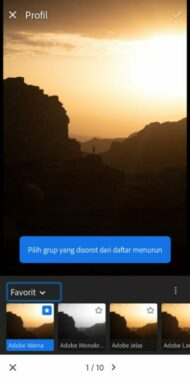 Rumus Lightroom Senja
