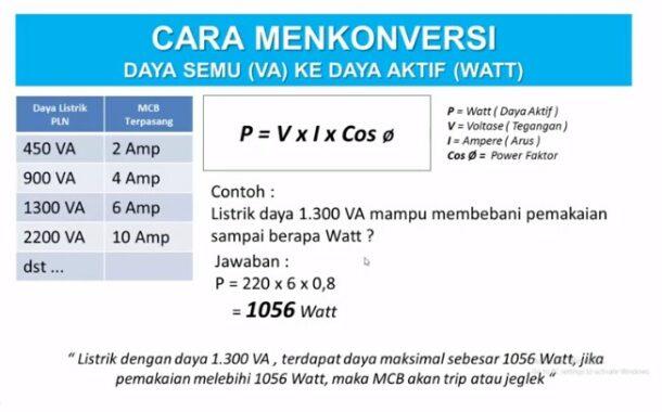 1-volt-berapa-watt